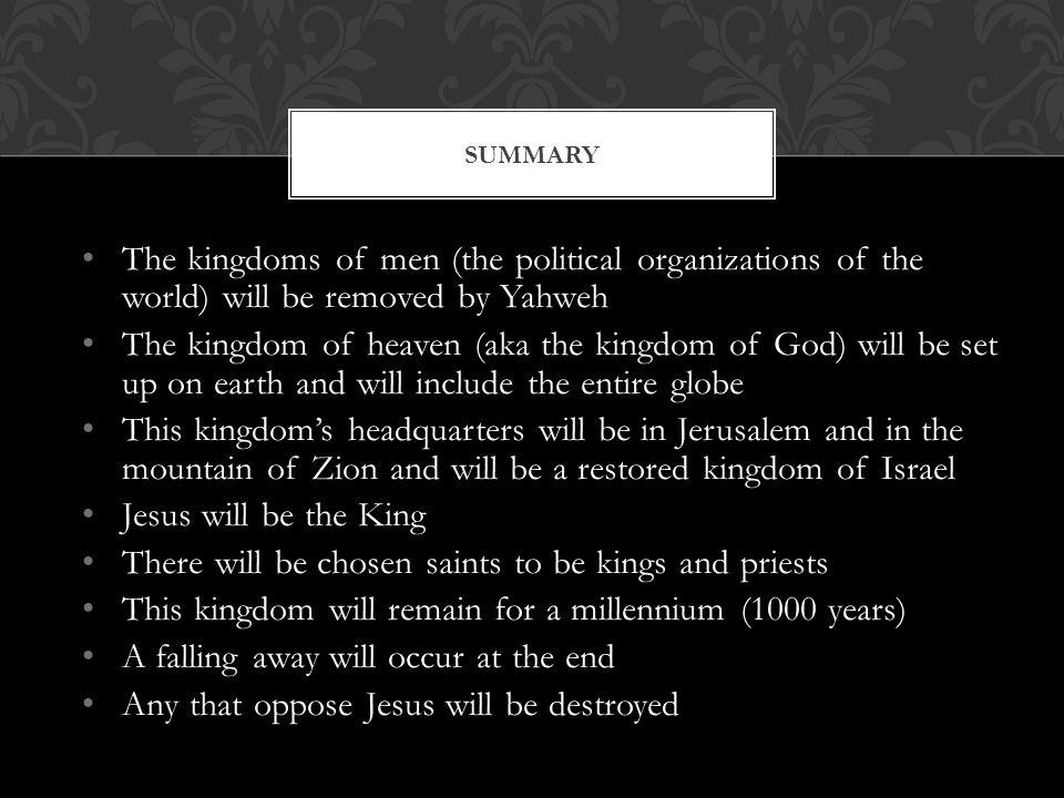 The Saints will inherit the kingdom