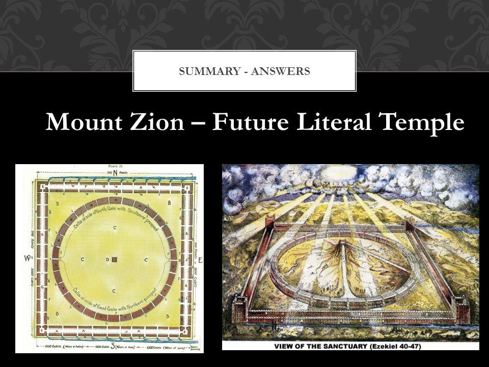 Mount Zion – Future Literal Temple