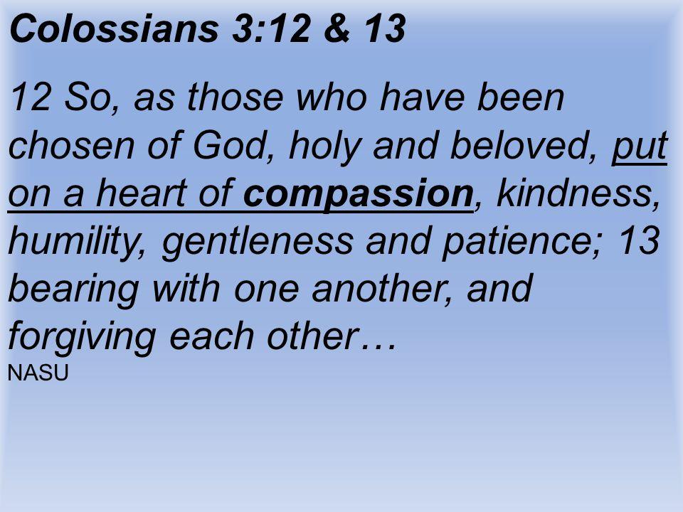 Colossians 3:12 & 13
