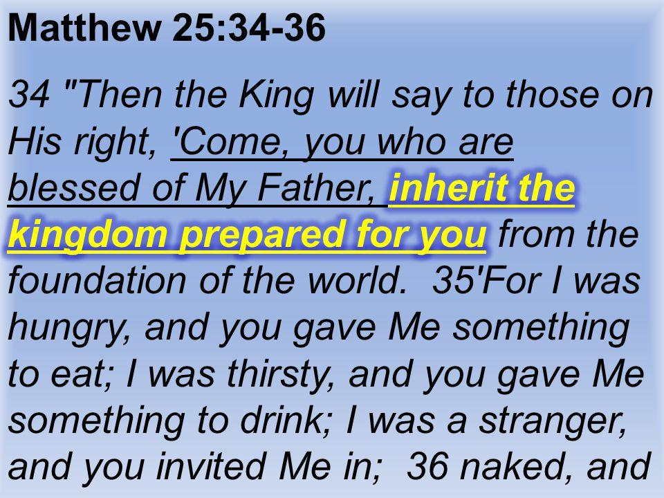 Matthew 25:34-36