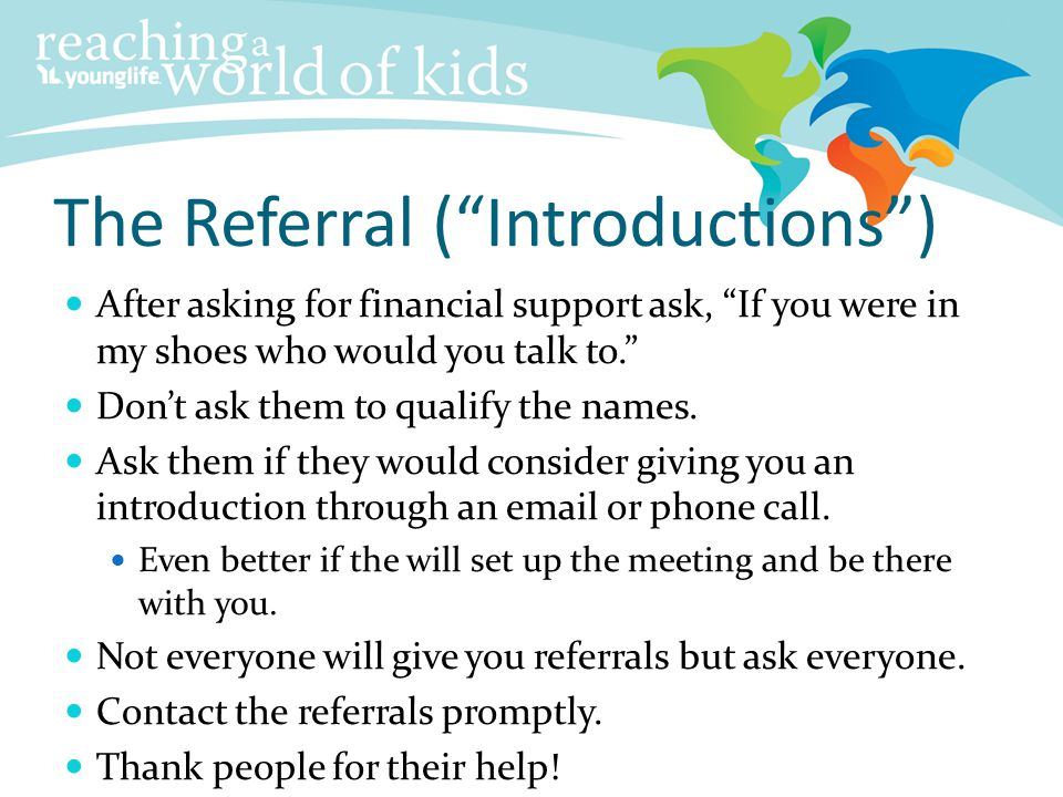 The Referral ( Introductions )