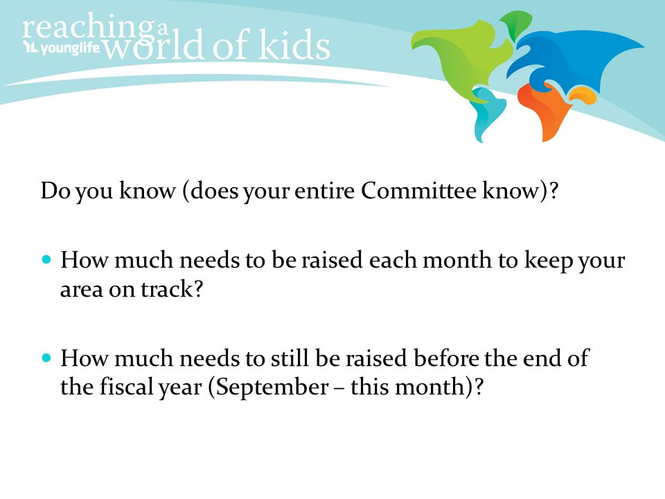 Do you know (does your entire Committee know)