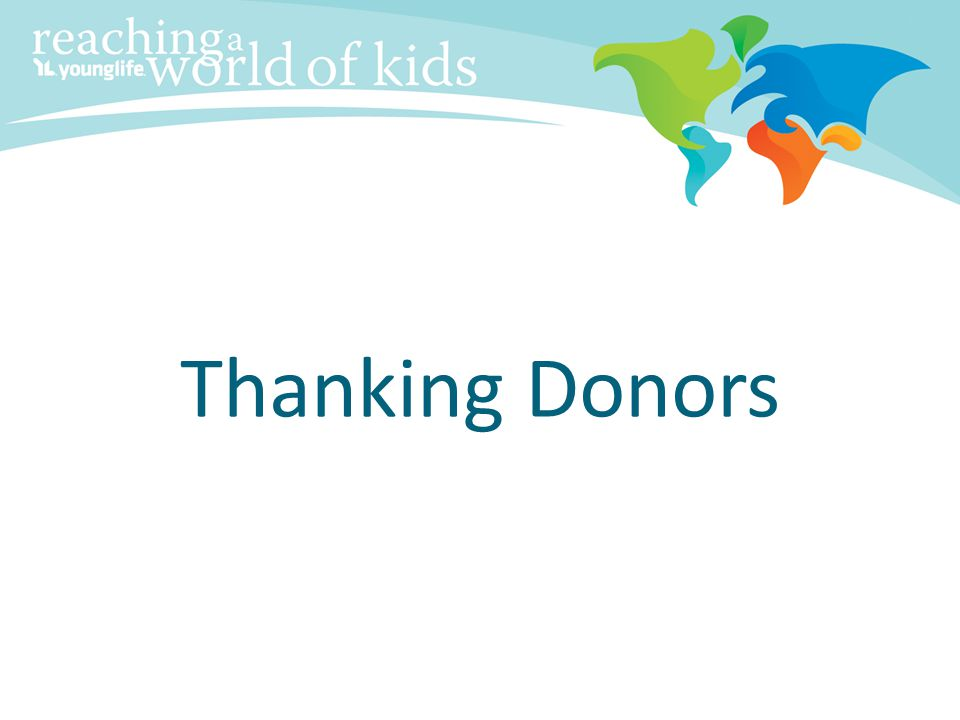 Thanking Donors