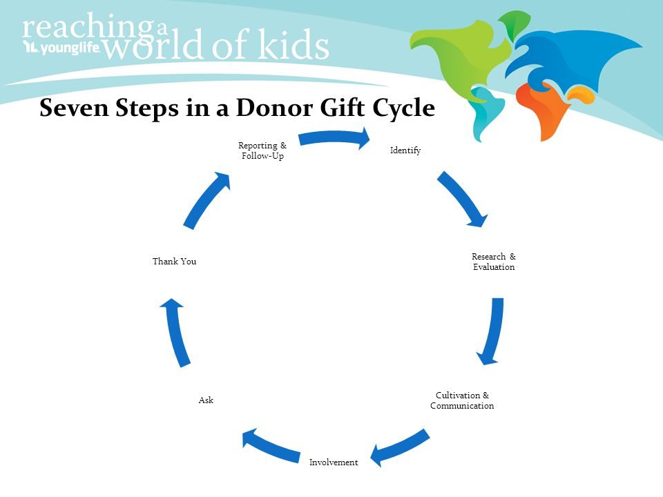 Seven Steps in a Donor Gift Cycle