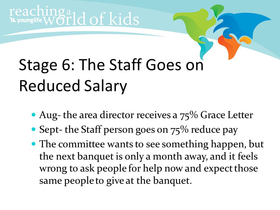 Stage 6: The Staff Goes on Reduced Salary