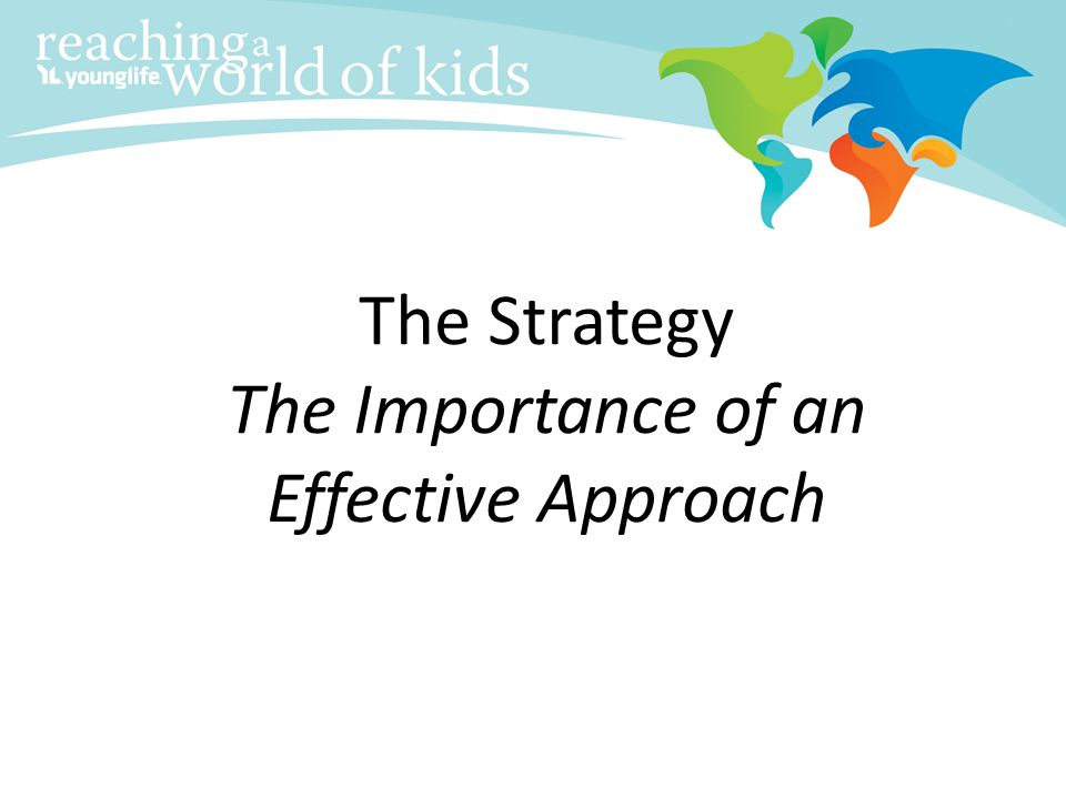 The Strategy The Importance of an Effective Approach