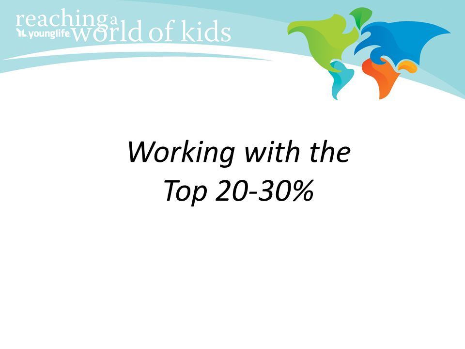 Working with the Top 20-30%