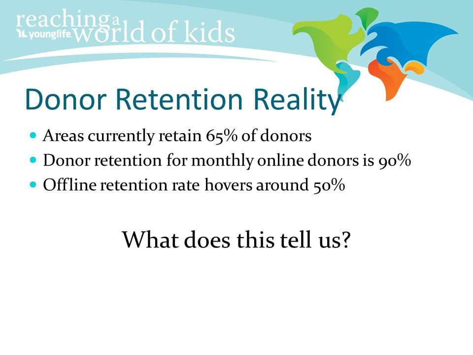 Donor Retention Reality