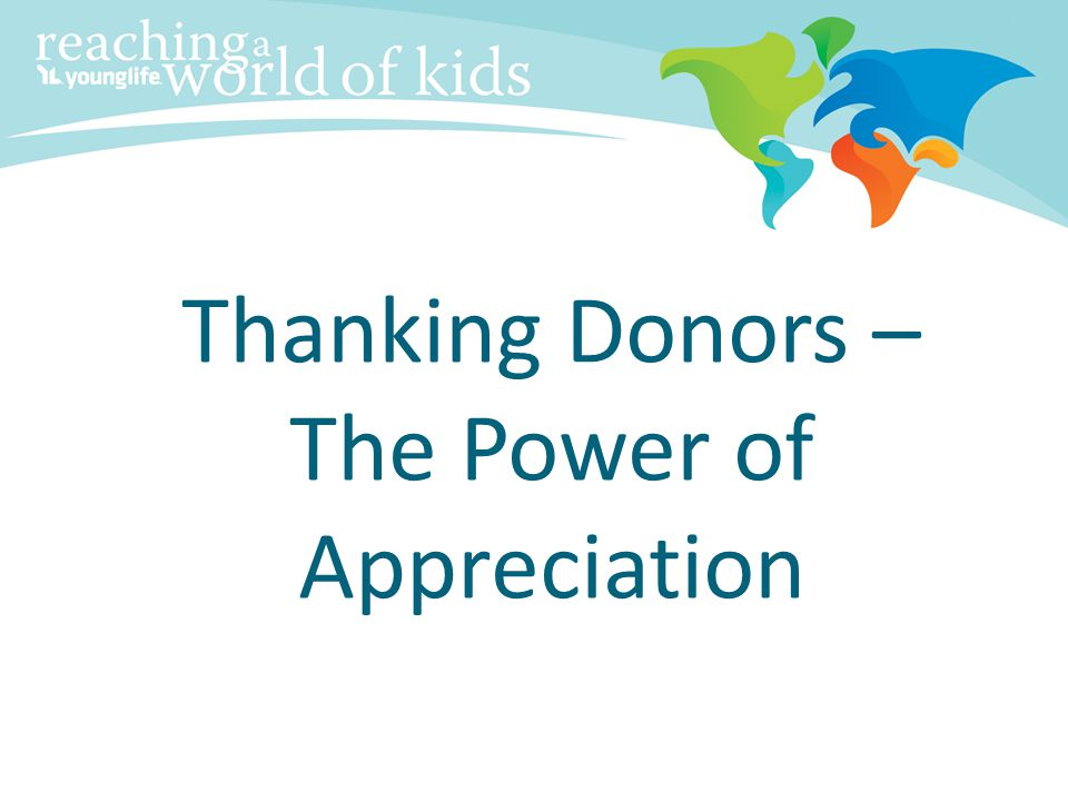 Thanking Donors – The Power of Appreciation
