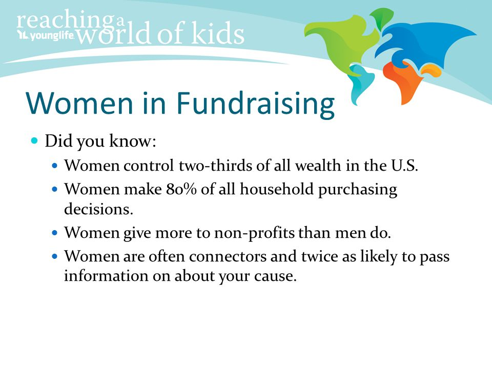 Women in Fundraising Did you know: