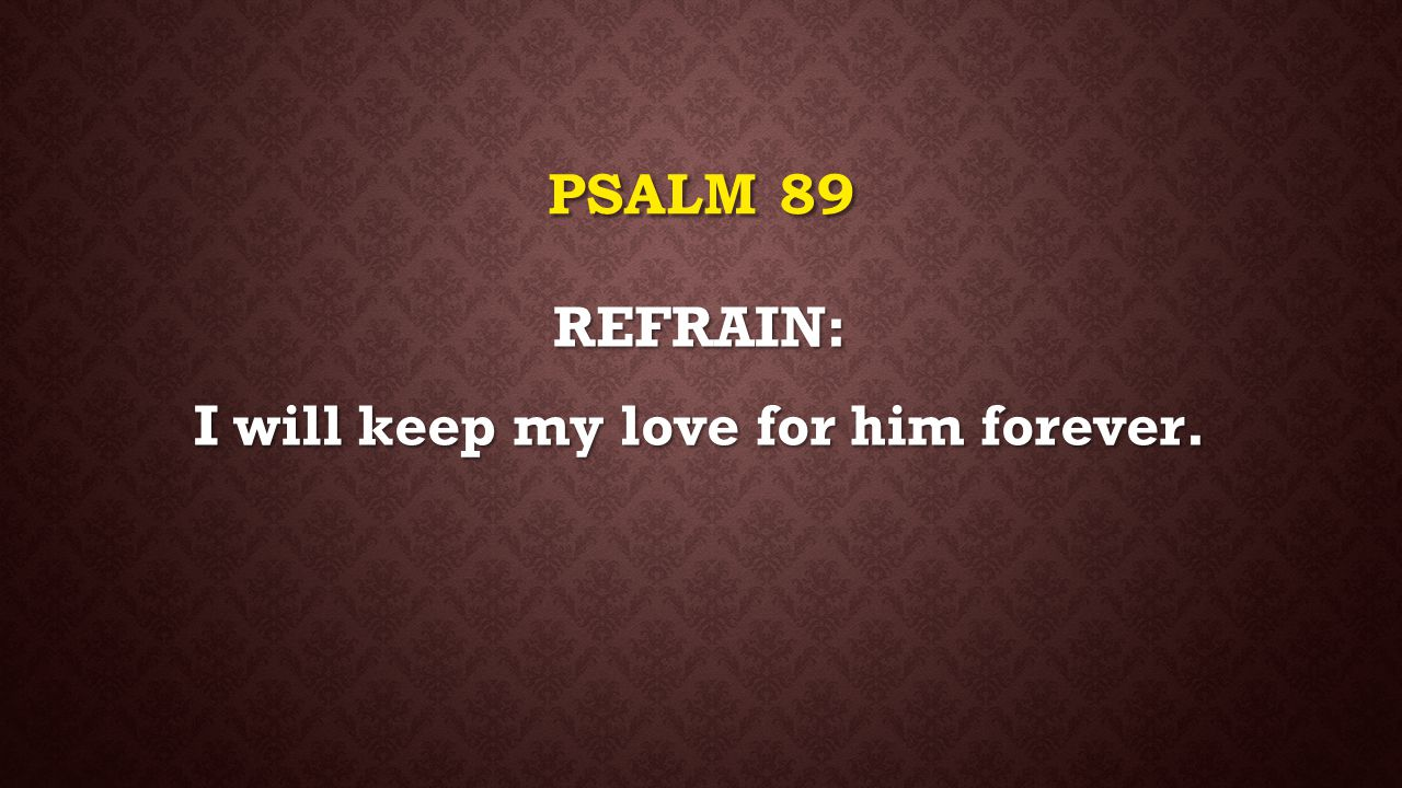 I will keep my love for him forever.