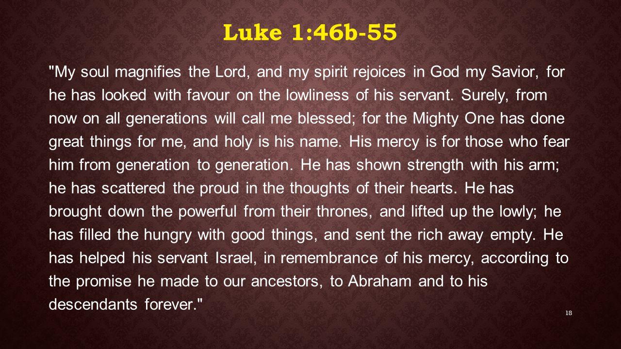 Luke 1:46b-55