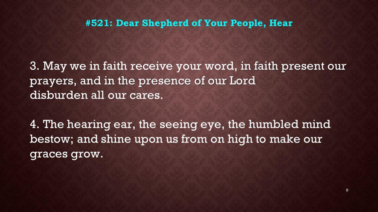 #521: Dear Shepherd of Your People, Hear
