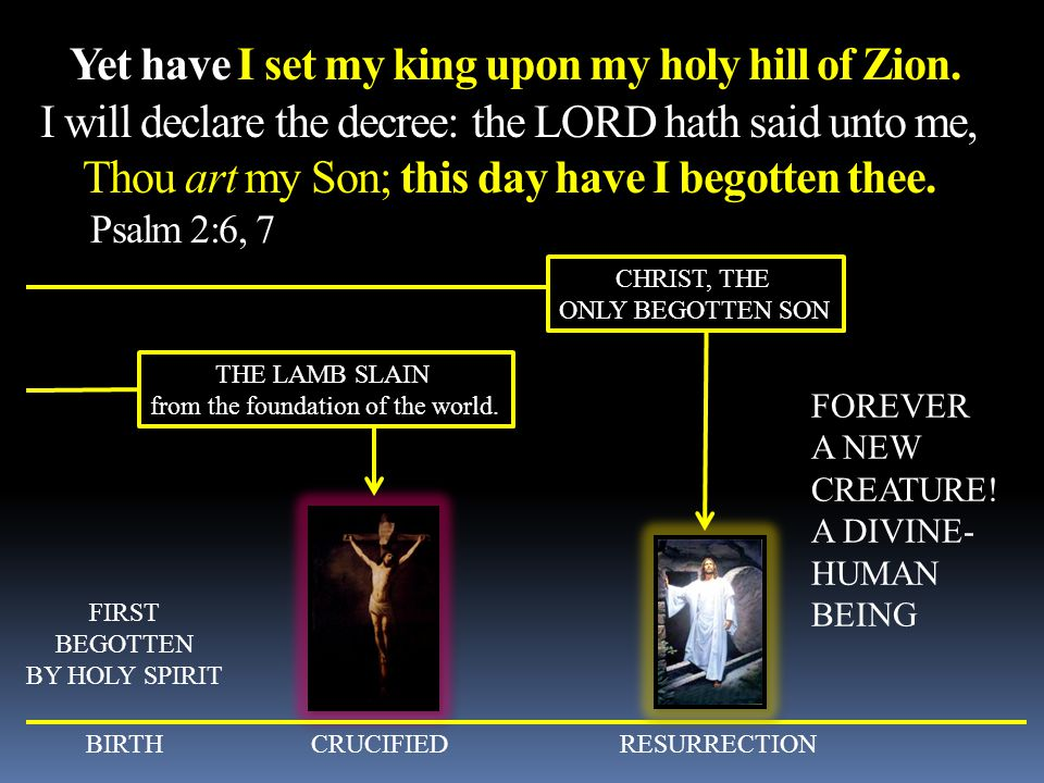 Yet have I set my king upon my holy hill of Zion
