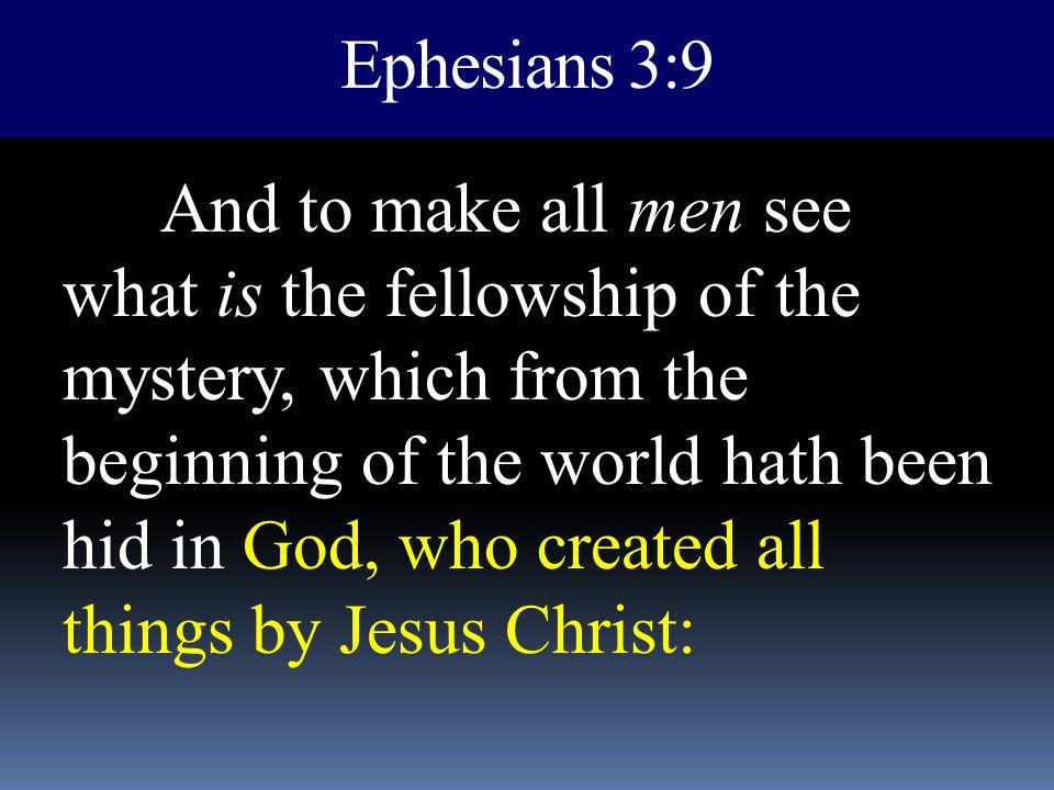 Ephesians 3:9