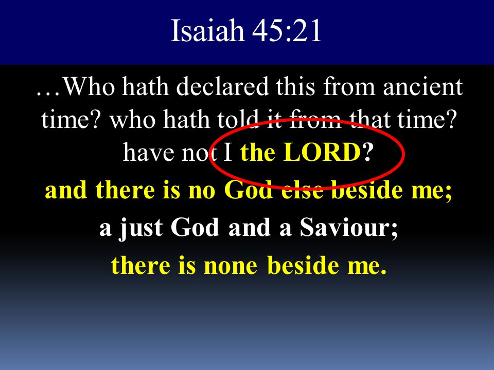 Isaiah 45:21