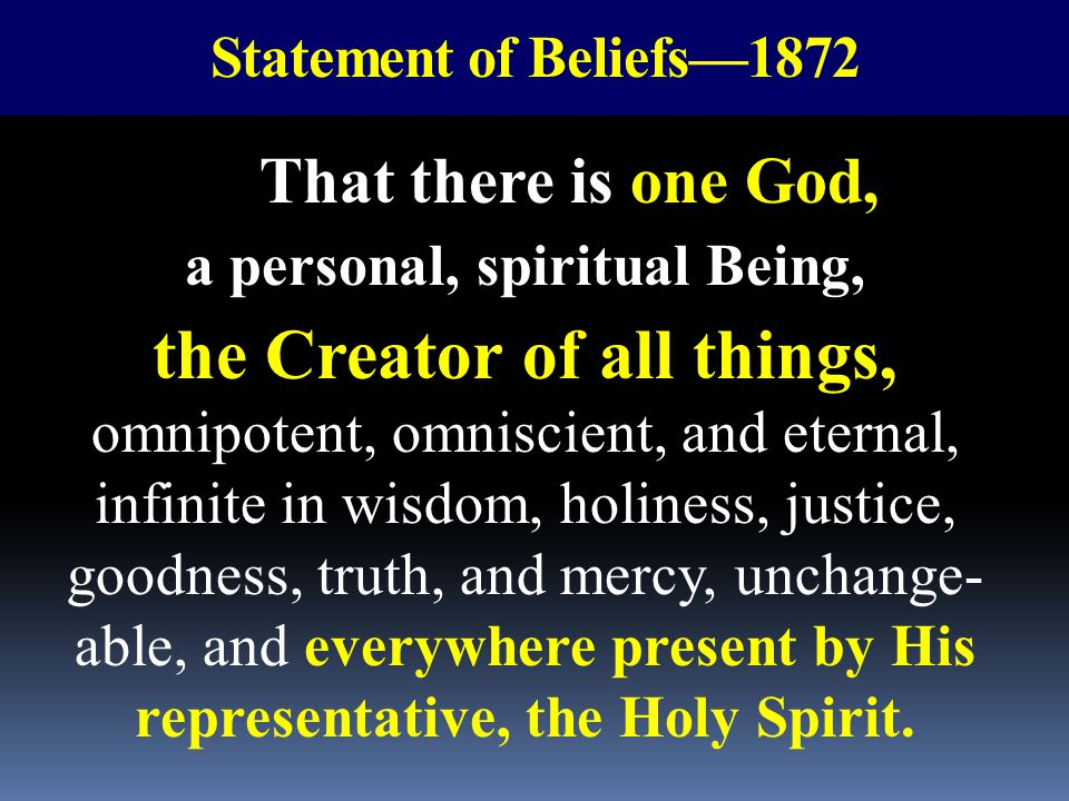a personal, spiritual Being,