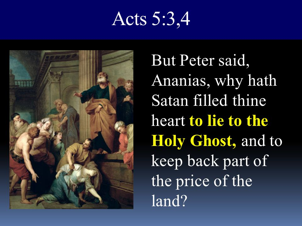 Acts 5:3,4