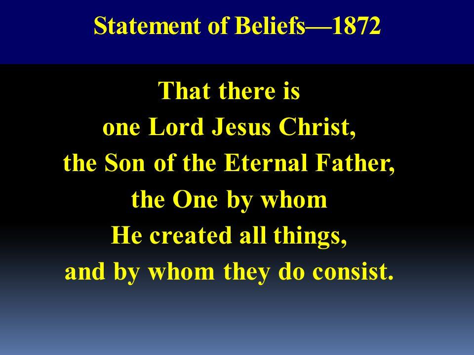 Statement of Beliefs—1872
