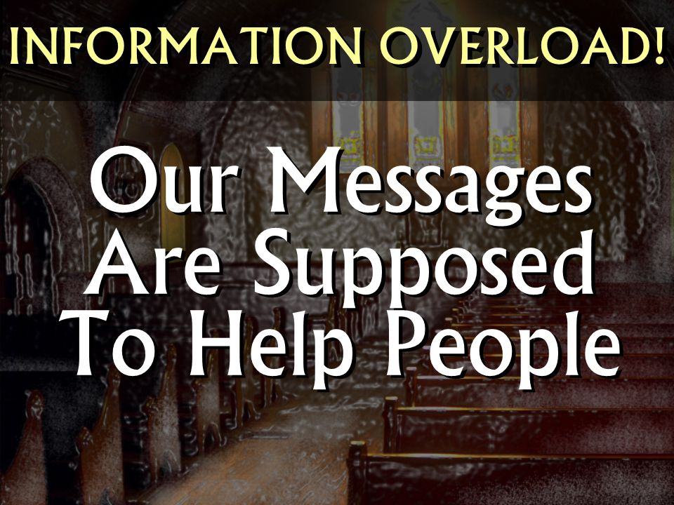 Our Messages Are Supposed To Help People