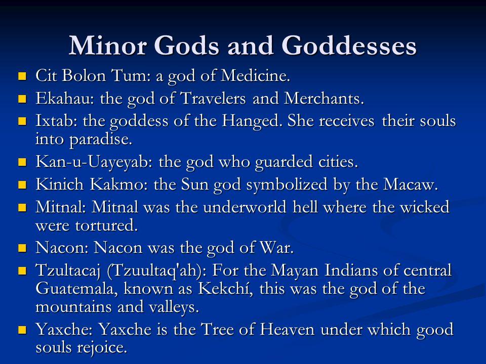 Minor Gods and Goddesses