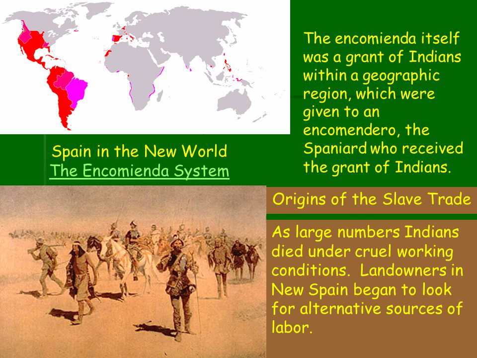 Spain in the New World The Encomienda System