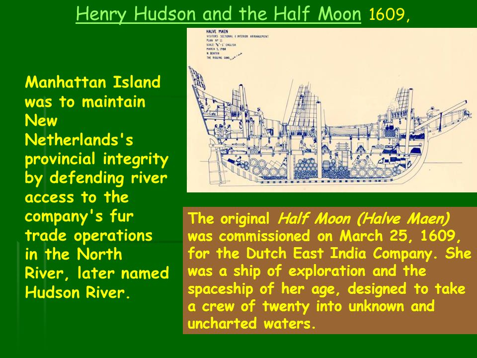 Henry Hudson and the Half Moon 1609,