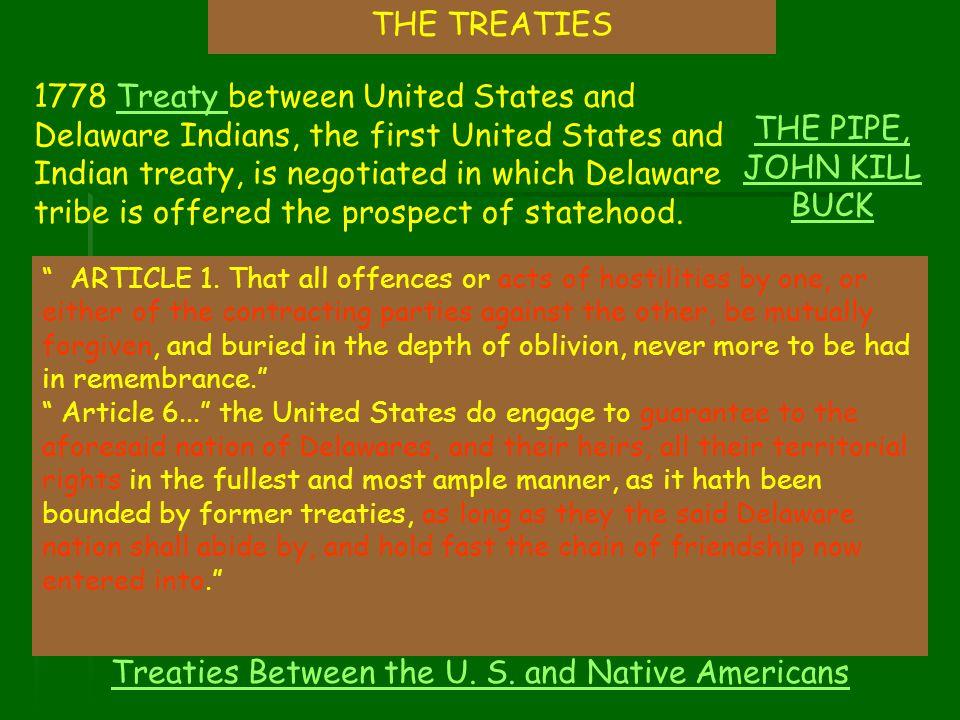 Treaties Between the U. S. and Native Americans