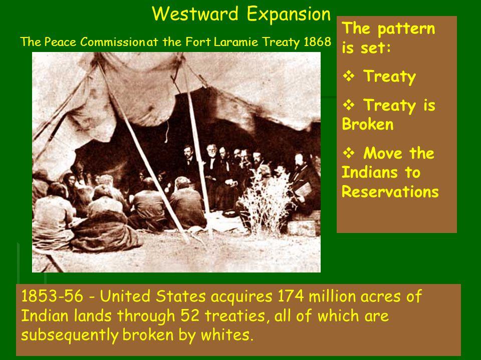 Westward Expansion The pattern is set: Treaty Treaty is Broken