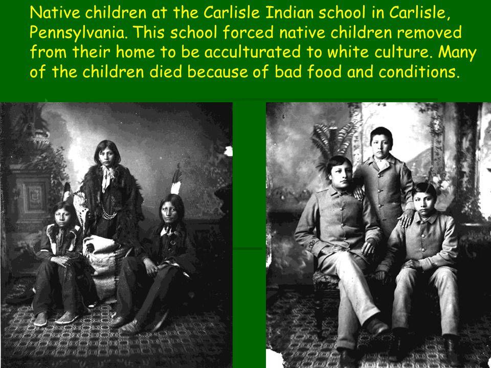 Native children at the Carlisle Indian school in Carlisle, Pennsylvania.