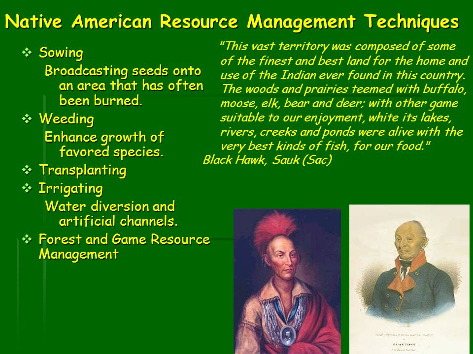 Native American Resource Management Techniques