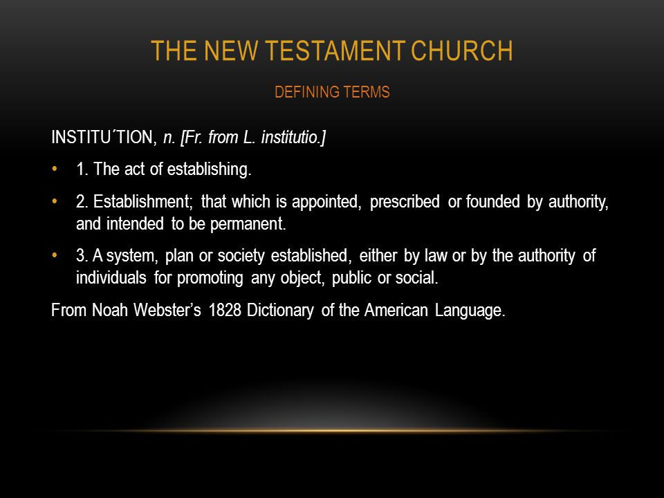 The new testament church