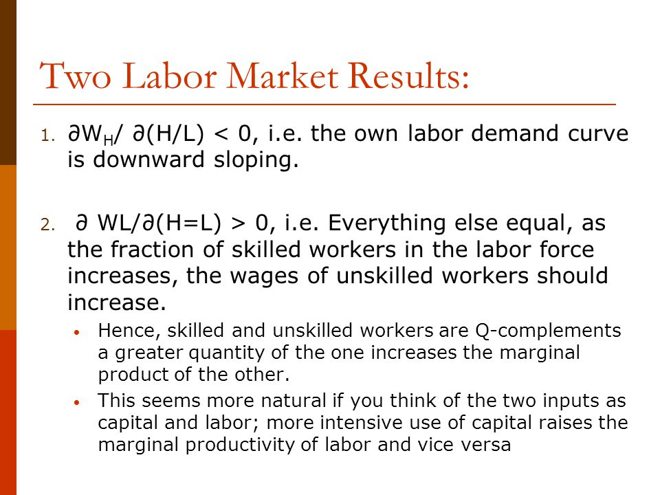 Two Labor Market Results: