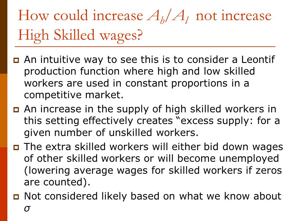 How could increase Ah/Al not increase High Skilled wages