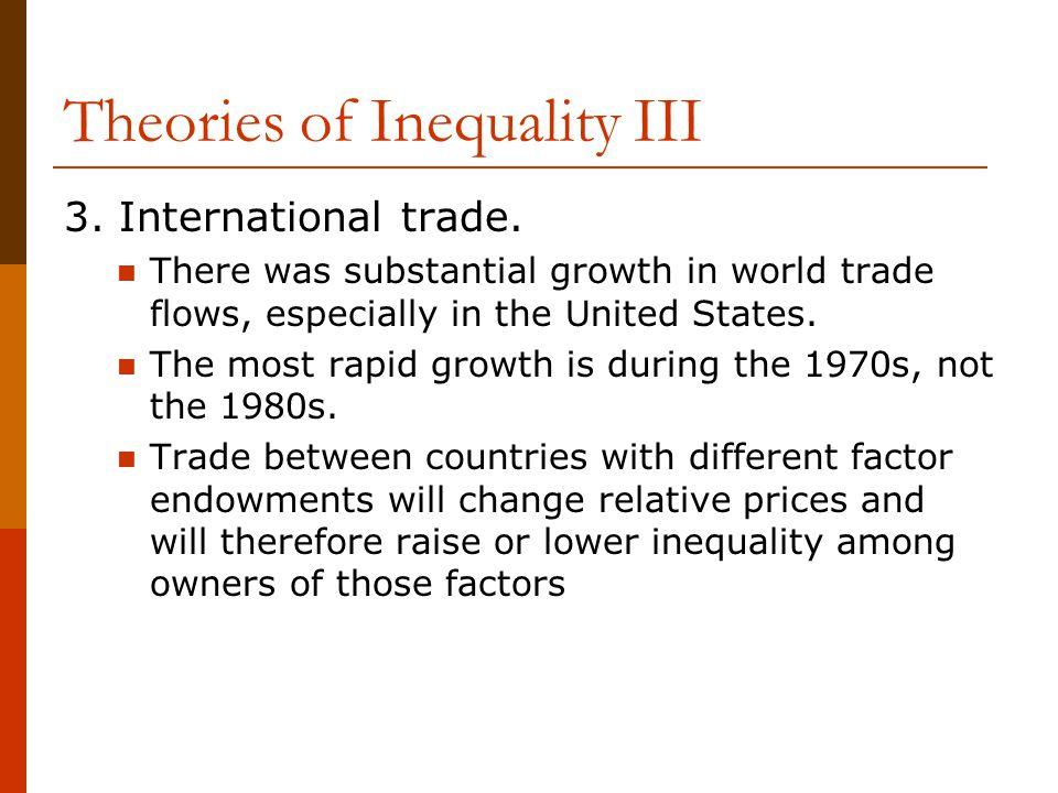 Theories of Inequality III