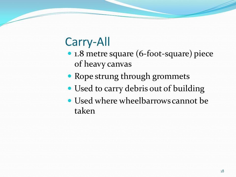 Carry-All 1.8 metre square (6-foot-square) piece of heavy canvas