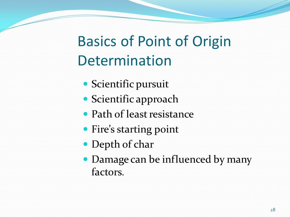 Basics of Point of Origin Determination