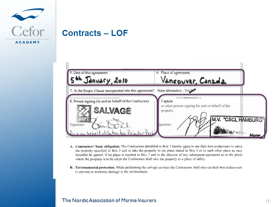 Contracts – LOF The Nordic Association of Marine Insurers