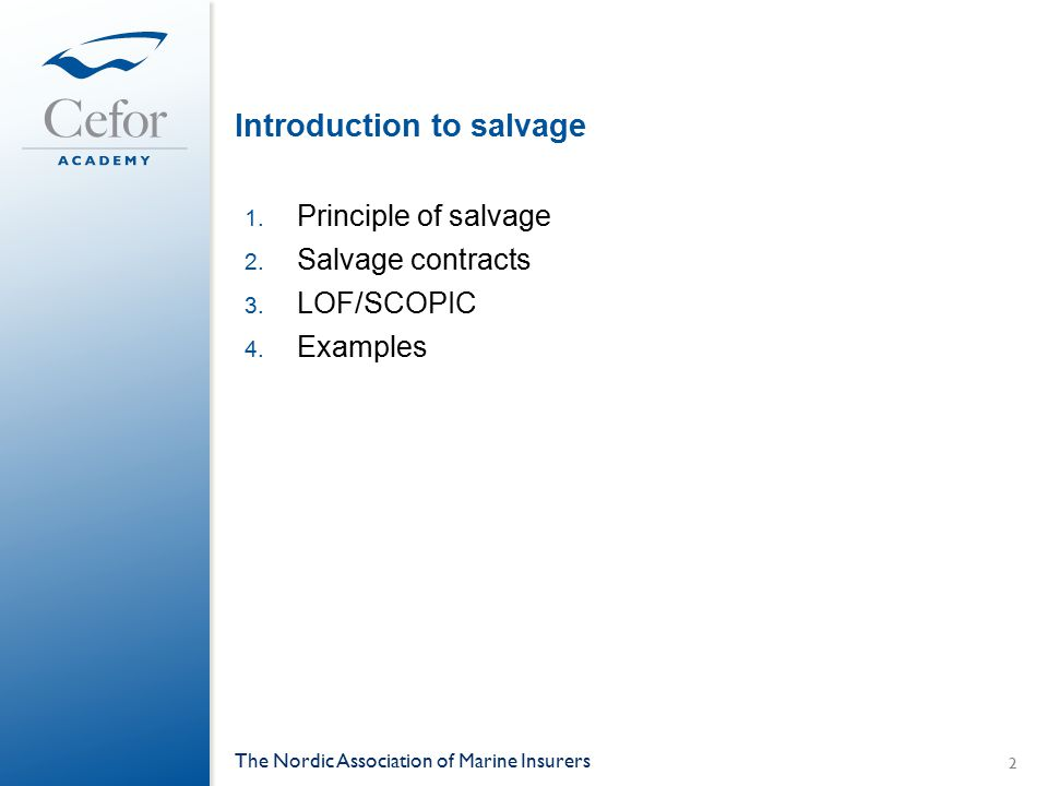 Introduction to salvage