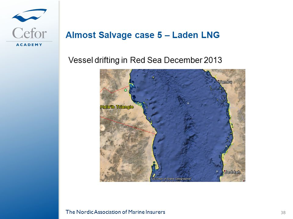 Almost Salvage case 5 – Laden LNG