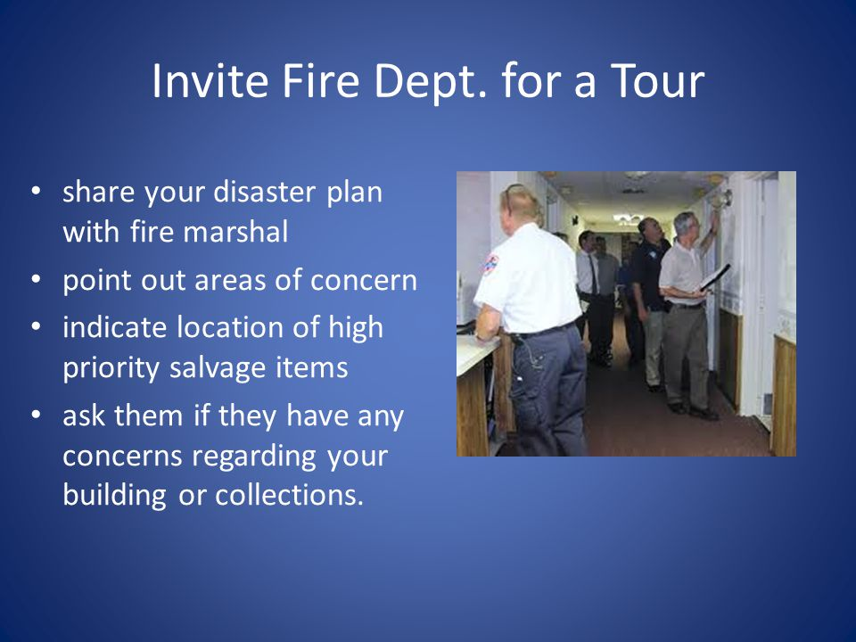 Invite Fire Dept. for a Tour