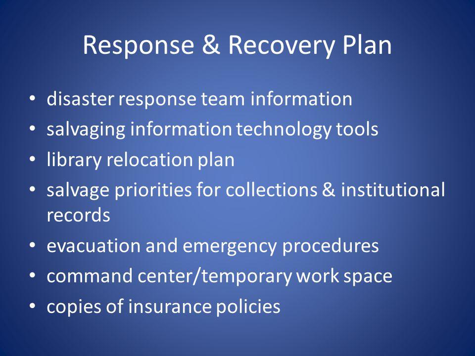 Response & Recovery Plan