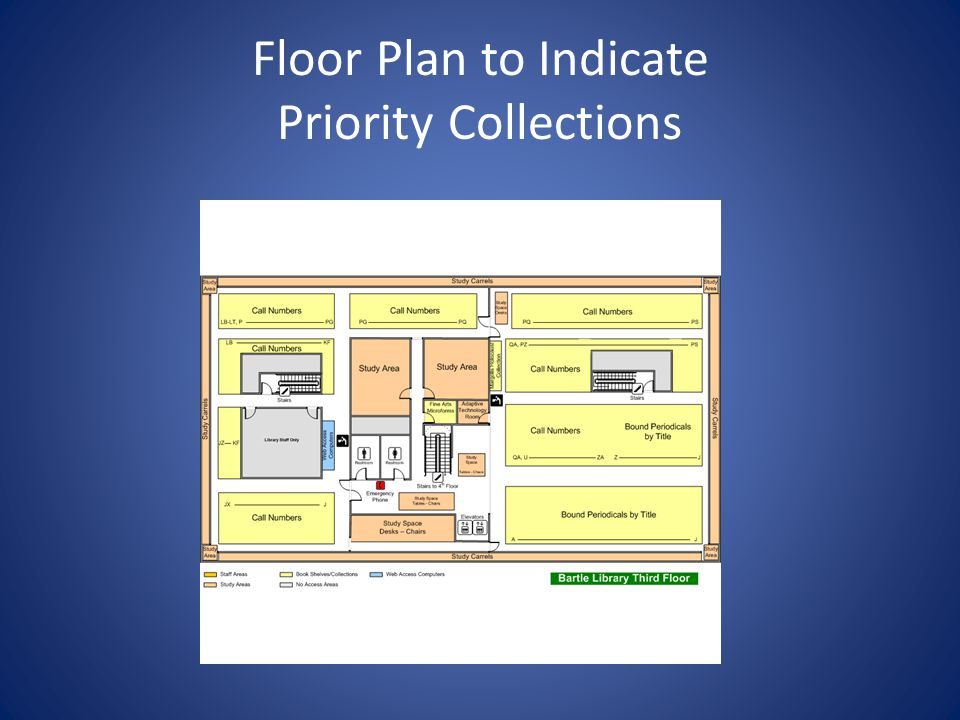 Floor Plan to Indicate Priority Collections