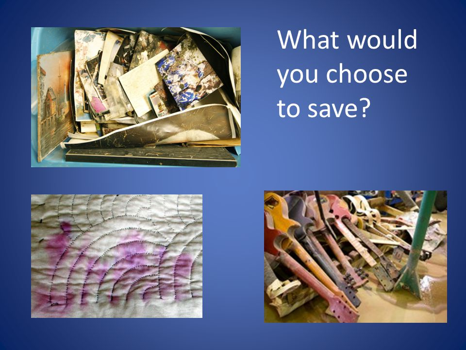 What would you choose to save