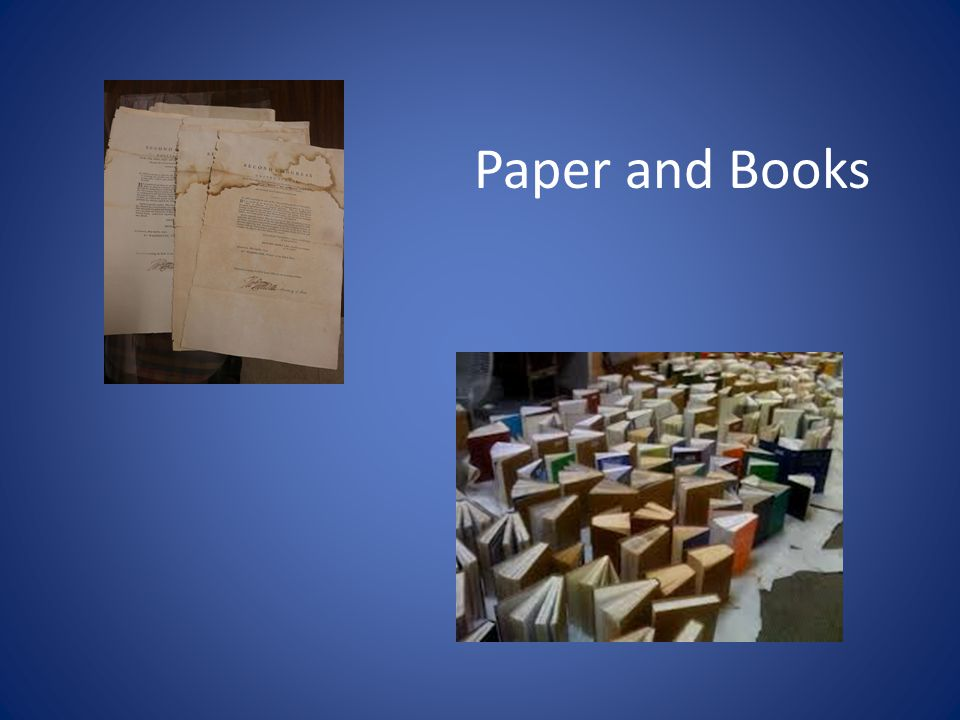 Paper and Books