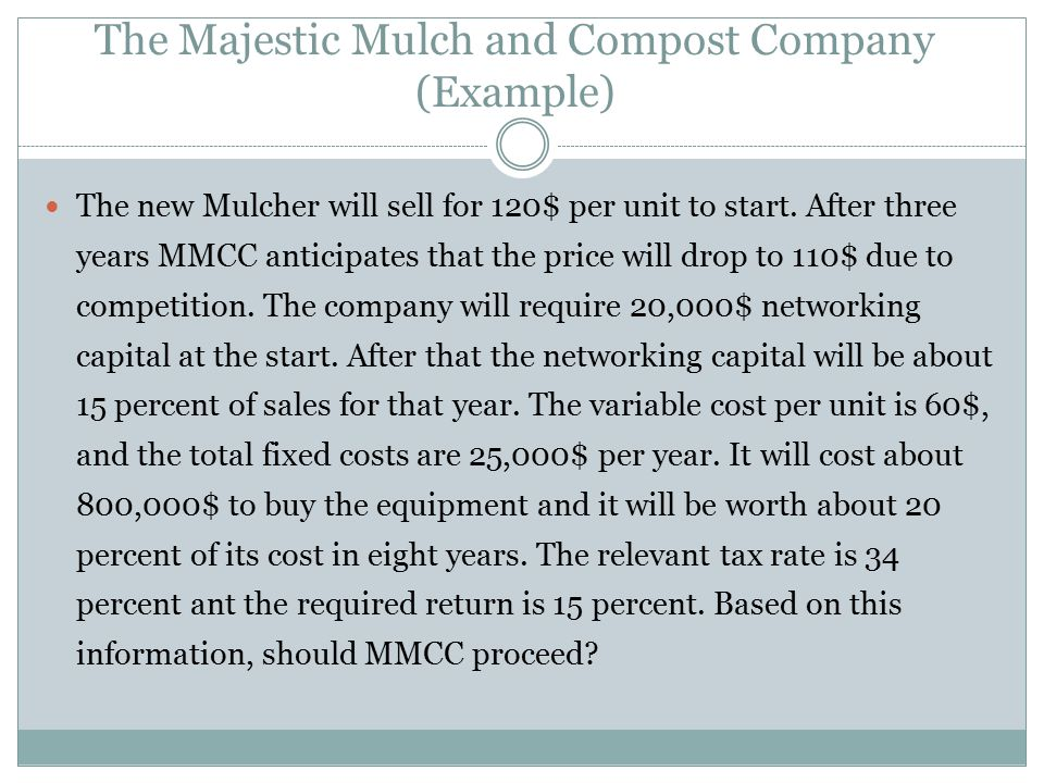 The Majestic Mulch and Compost Company (Example)