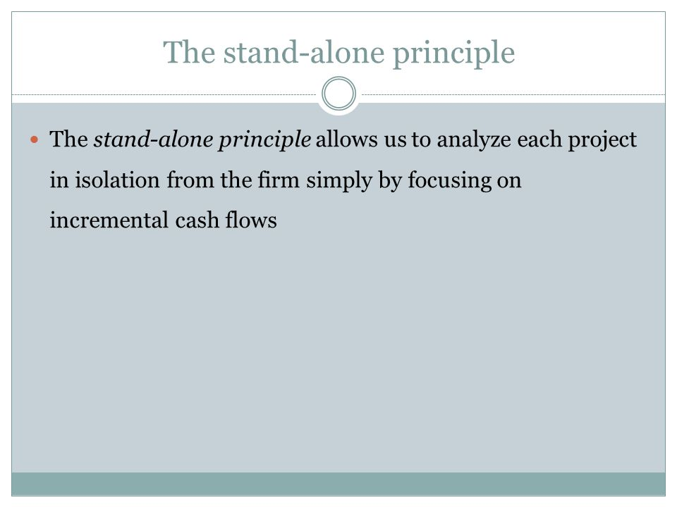 The stand-alone principle