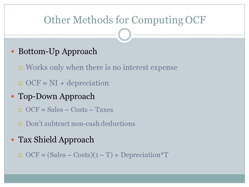 Other Methods for Computing OCF