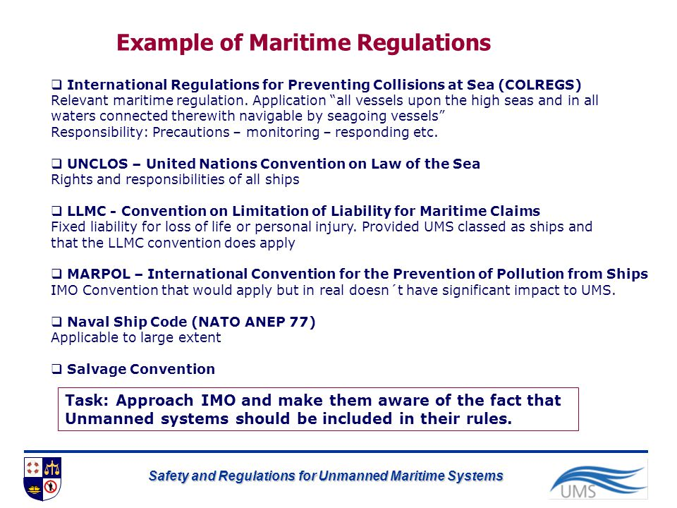 Example of Maritime Regulations
