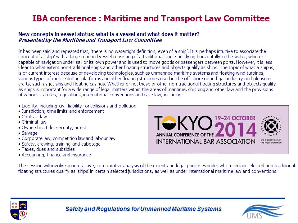 IBA conference : Maritime and Transport Law Committee